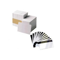 104523-112 Card, PVC PREMIER, Color BLANCO, Grosor 0,76mm. BANDA MAGNETICA LOW COERCIVITY. 1 Caja de 500