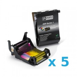 800011-140 PACK de 5 Ribbon color YMCKO para ZXP Series 1.