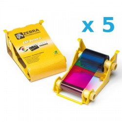 800033-840 PACK de 5 Cartridge COLOR YMCKO. Para impresoras ZXP3 IX Series